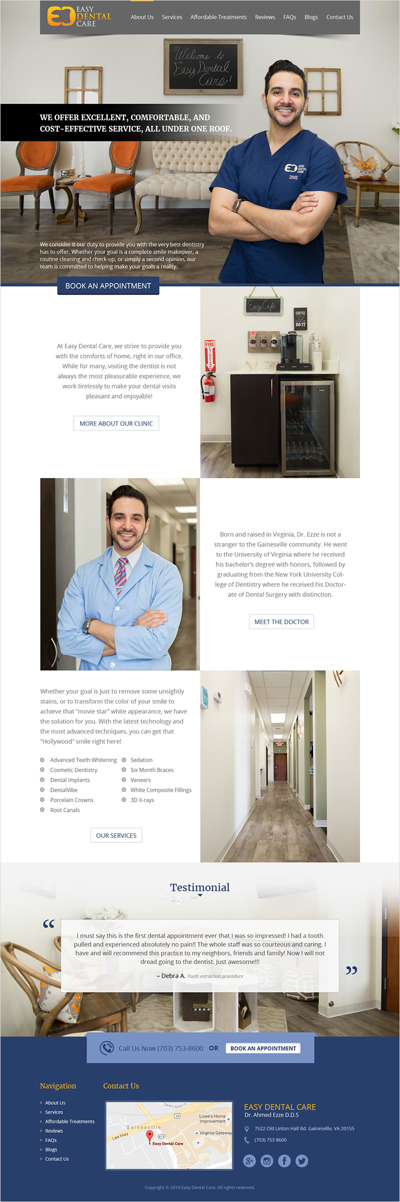 Easy Dental Care - Website Design