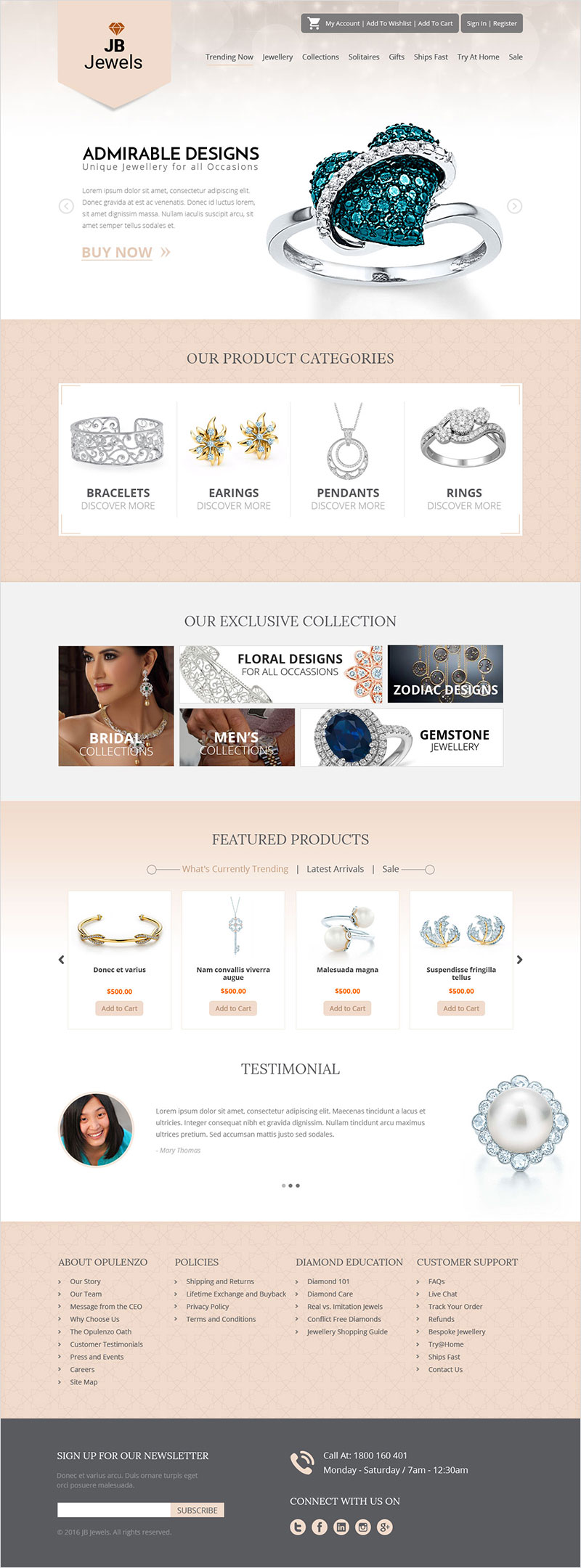 JB Jewels - Website Design