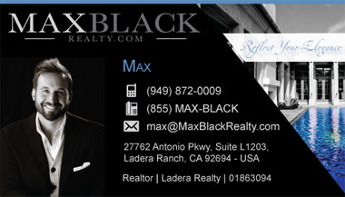 Max Black Realty Business Card Design