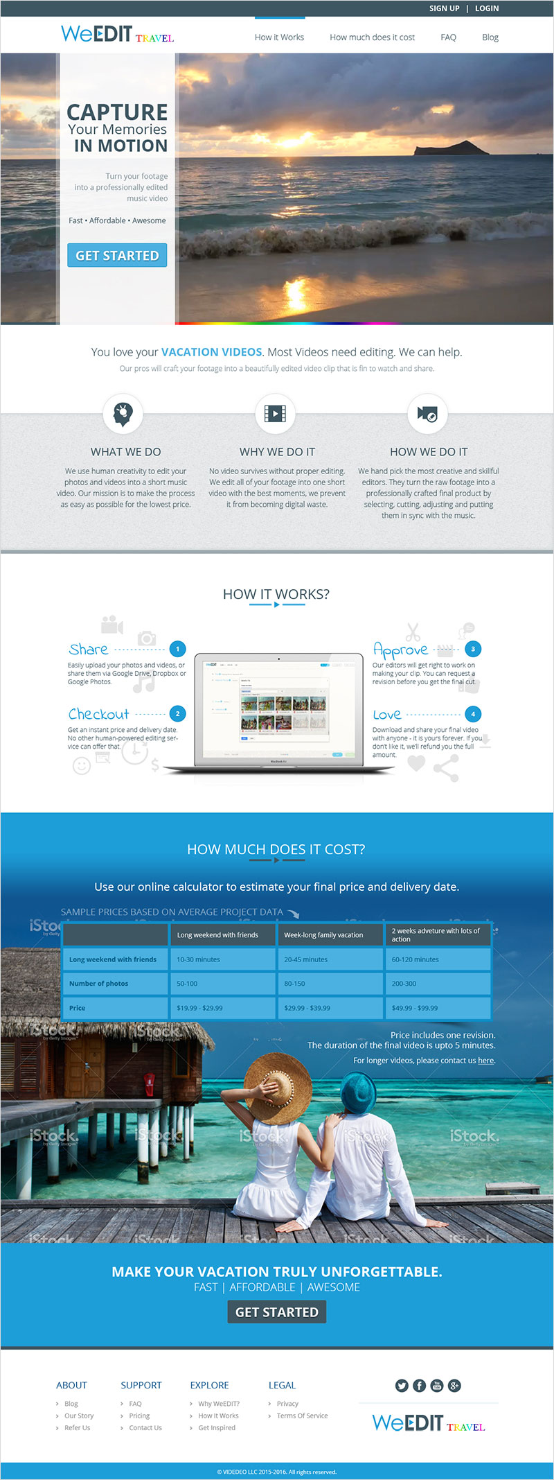 We Edit Travel - Website Design