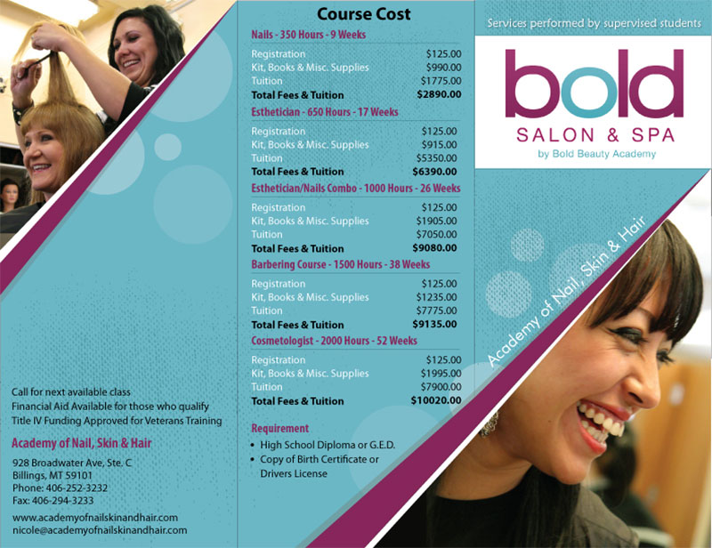 Bold Saloon & spa - Tri-Fold Brochure Design