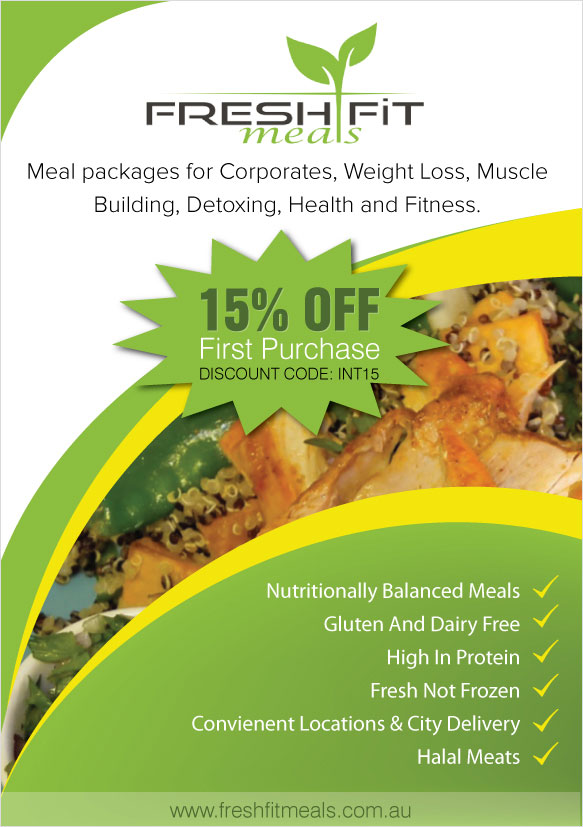Fresh Fit Meals - Flyer Design
