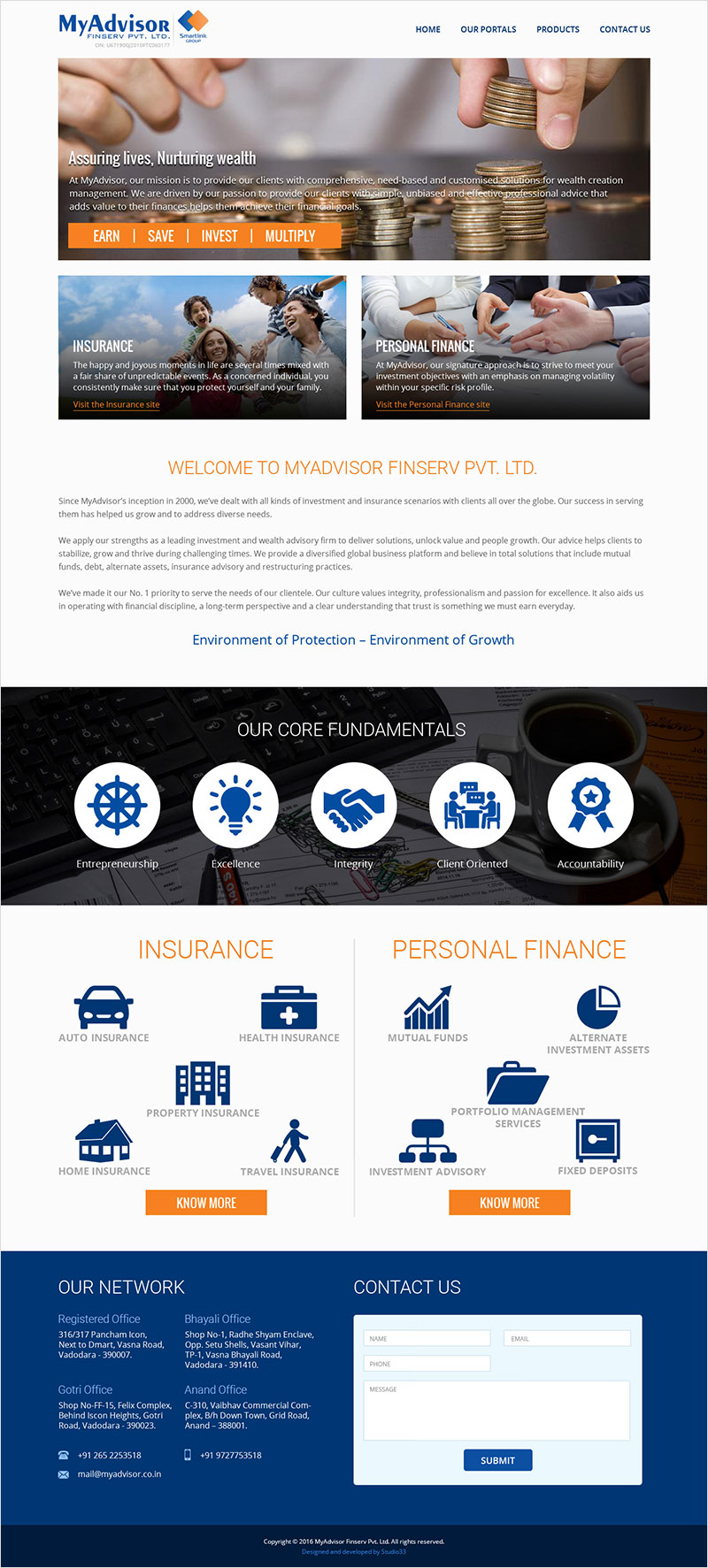 MyAdvisor FinServ Pvt. Ltd. - Website Design