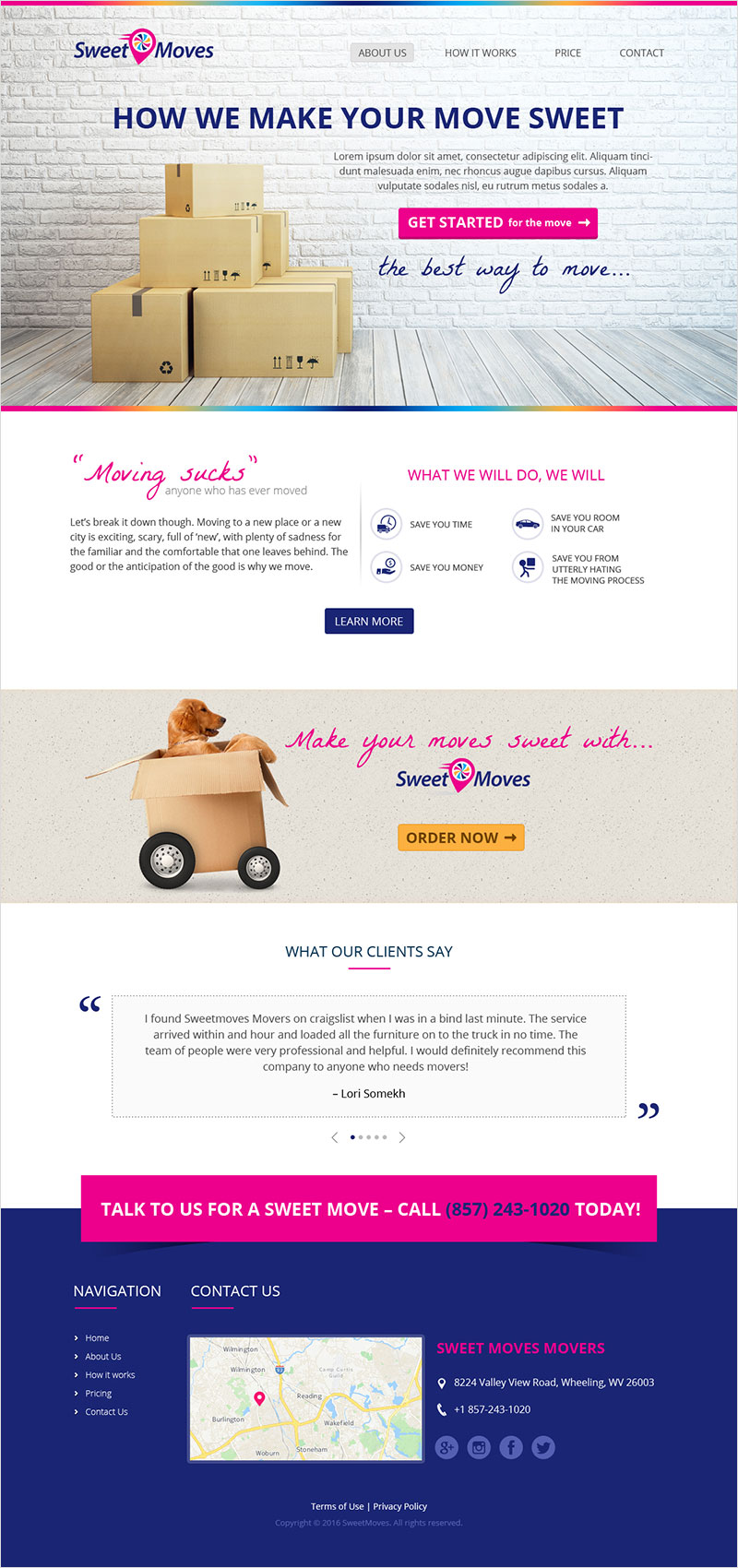 Sweet Moves - Website Design